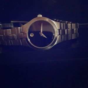 Classic Movado stainless steel watch